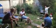 BBQ in onze tuin